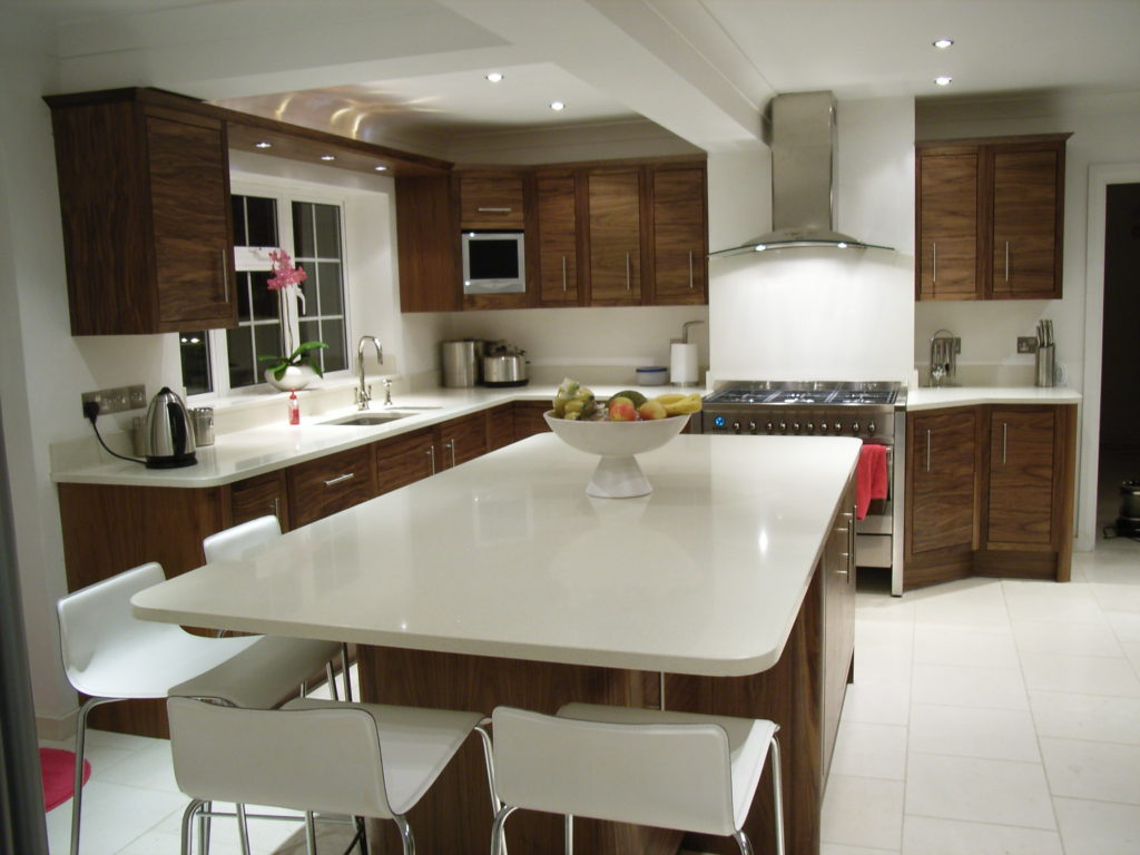 Bespoke walnut kitchen